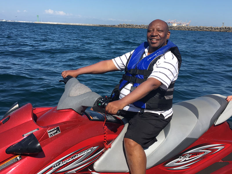 jet ski hire at waterfront